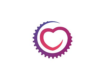Rovar gear heart bicycle bike logo mogilev belarus