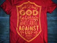 Romans 8:31 Shirt Design