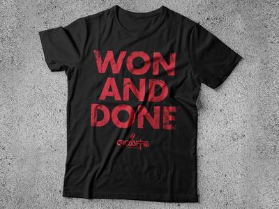 WON AND DONE Shirt Design