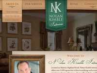 Nolan Kimble Interiors Homepage Design