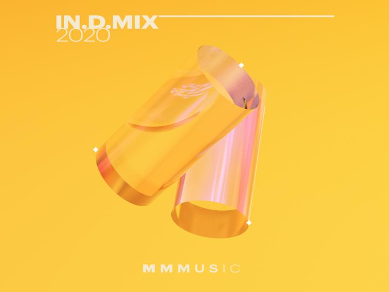 In.D.Mx music geometric playlist iridescent cilinder 3d cinema4dart cinema4d