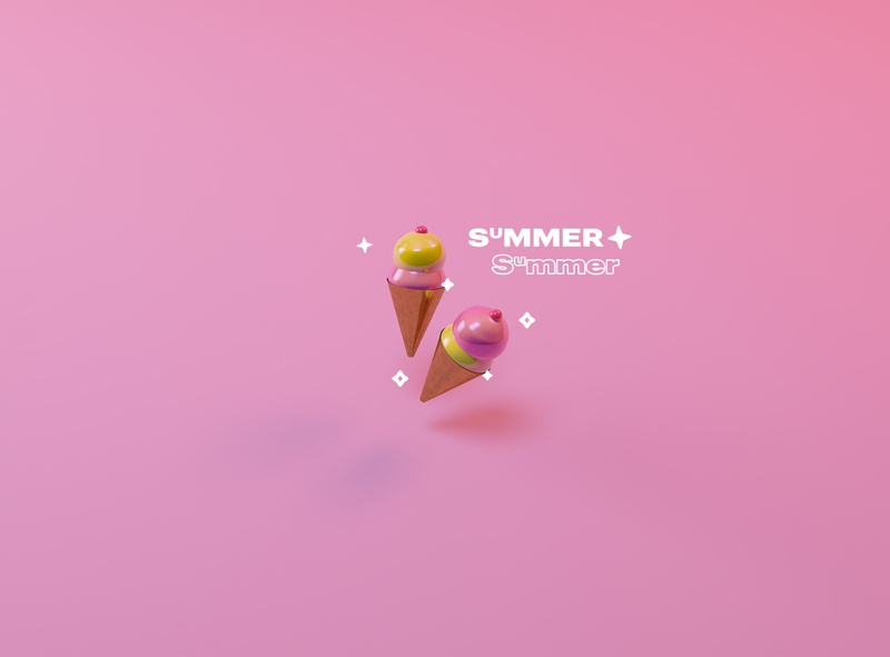 Summer Summer summer food ice cream 3d cinema 4d cinema4d