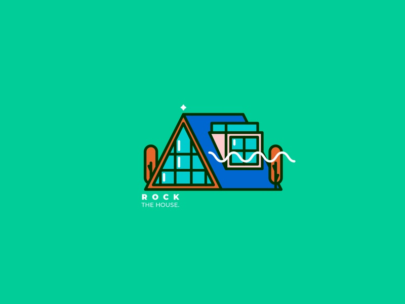 Home forest architecture house home geometric illustration vector