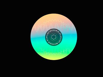 Muuusic Playlist sticker playlist music geometric vector holographic cinema 4d sticker cinema4d
