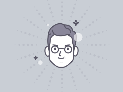 Hernán face avatar geometric illustration vector