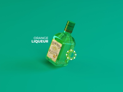 Controy Liqueur alcohol glass liquor cinema4d cinema 3d