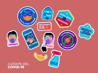 Stickers covid19 mexico vector sitkcers clean health covid illustration