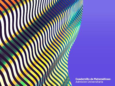 Maths book book 3d geometry maths waves gold cinema4d