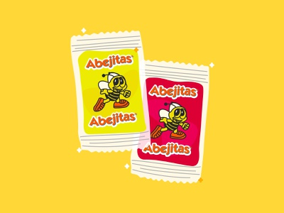 Abejitas 90s candies bee mexico illustration vector candy