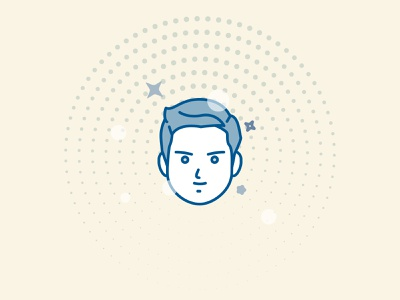 Stars mexico character face avatar geometric illustration vector