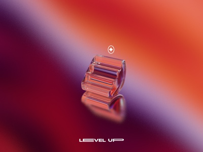 Level Up architecture level vector gradient glass stairs 3d cinema4dart cinema4d