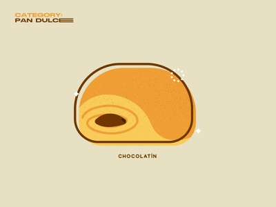 Chocolatin pastries desserts pan dulce food mexico geometric illustration vector