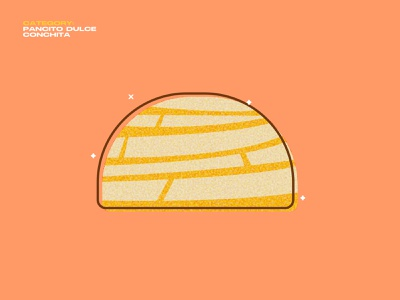 Mexican pan dulce concha pan dulce food mexico geometric illustration vector