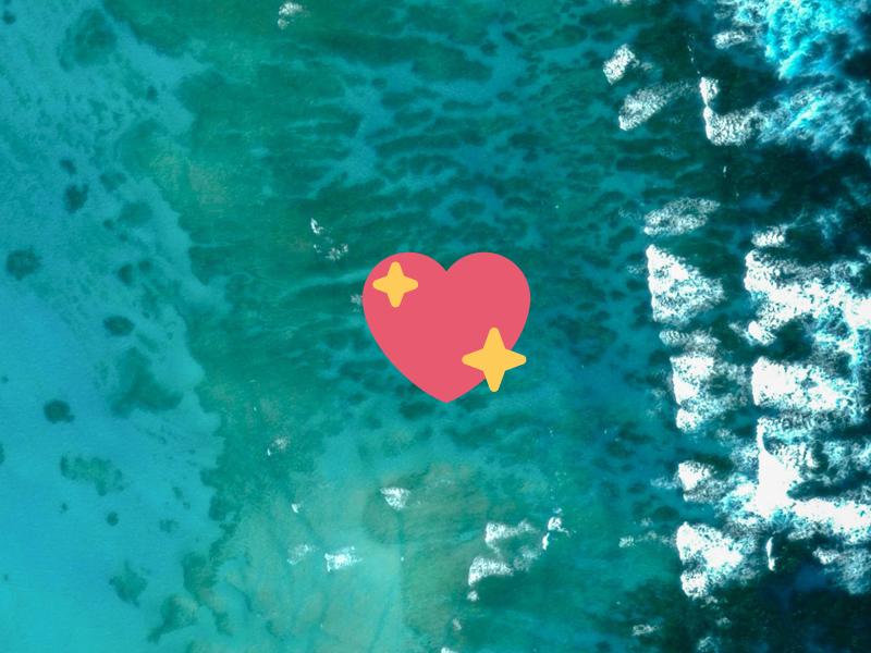 Sea Heart stars illustration photography google sea emoji heart vector