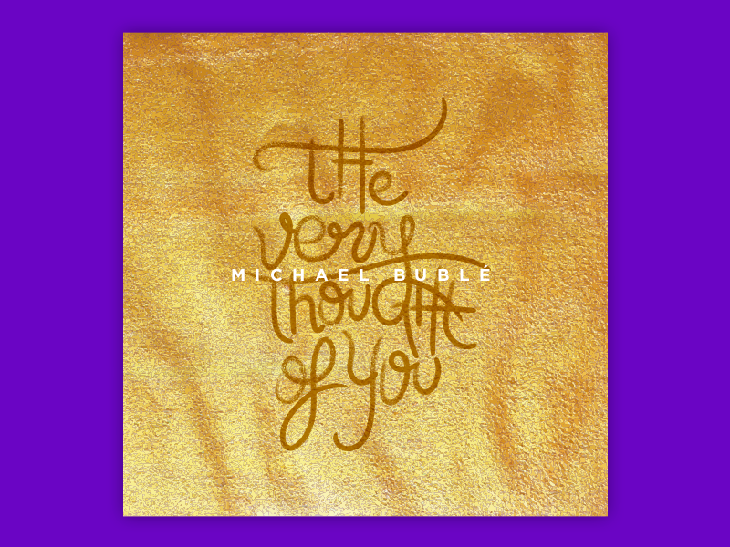 The very Thought Of You jazz pop handwriting handwritten gold music font lettering vector