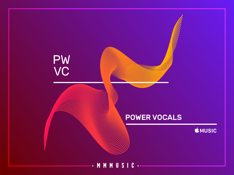 Power Vocals art vocals waves playlist music gradient abstract geometric vector