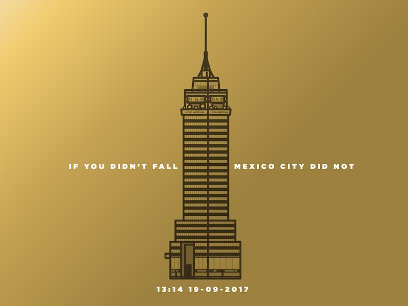 Mexico earthquake skyscraper latino building city mexico illustration vector