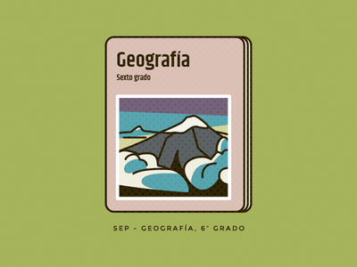 Geografia geometric education mexico mountain geography book illustration vector