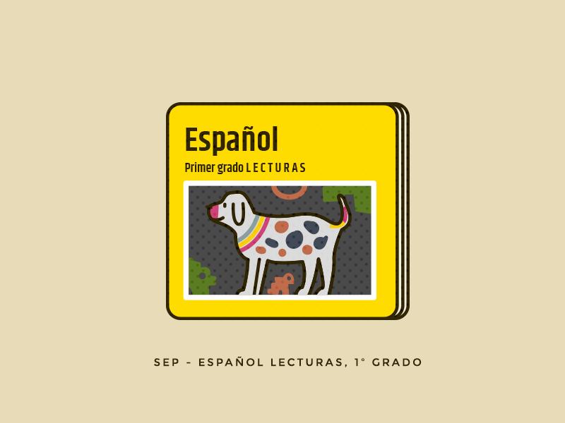 Español reading school dog geometric education mexico spanish book illustration vector