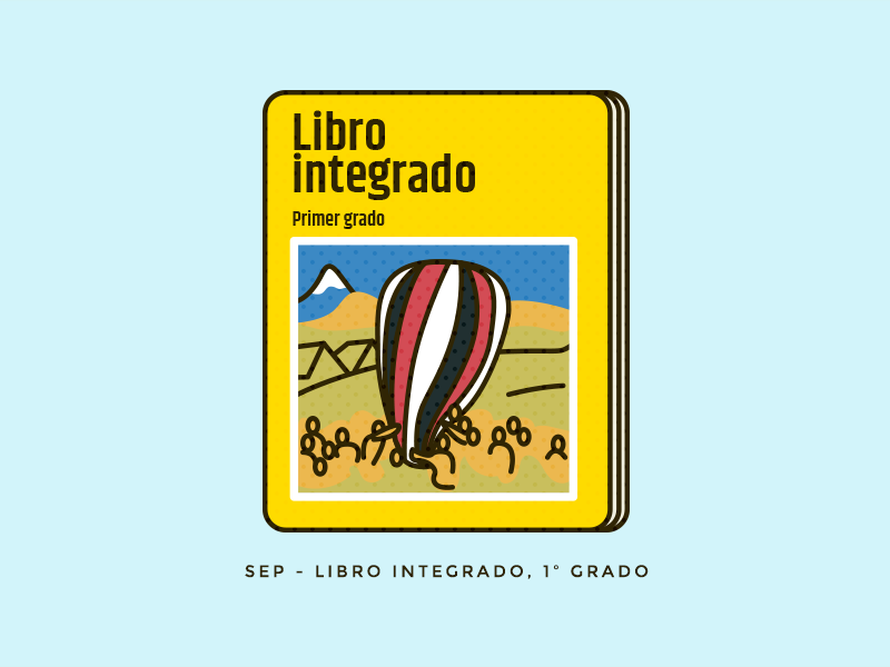 Integrado ux education book ui geometric mexico illustration vector