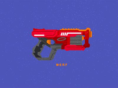 MERF nerf icon toy gun geometric illustration vector