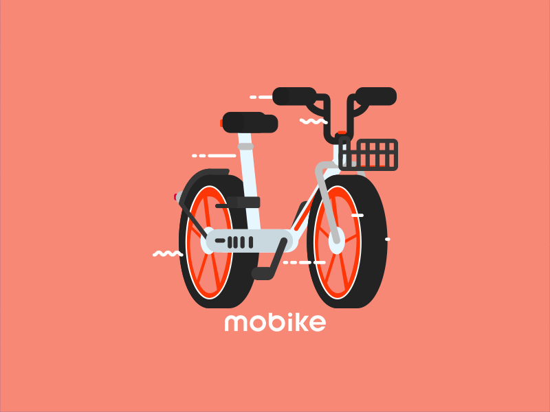 Mobike icon bicycle bike geometric mexico illustration vector