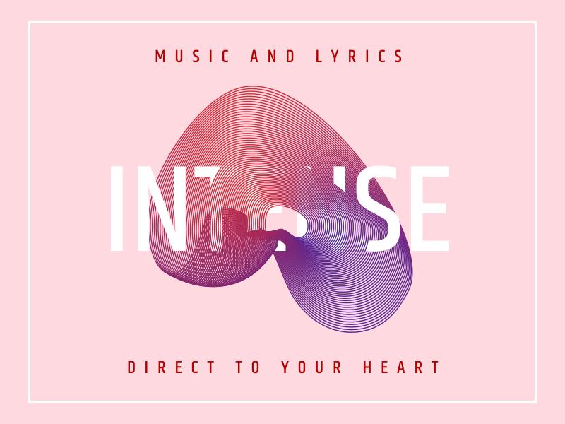 Intense ui loop playlist music geometric illustration vector
