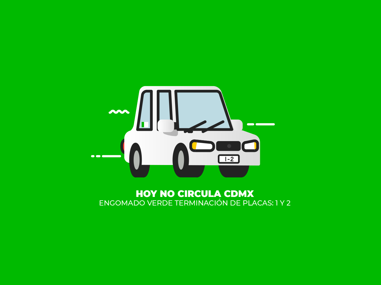 Hoy No Circula vehicles city ui icon auto car geometric mexico illustration vector
