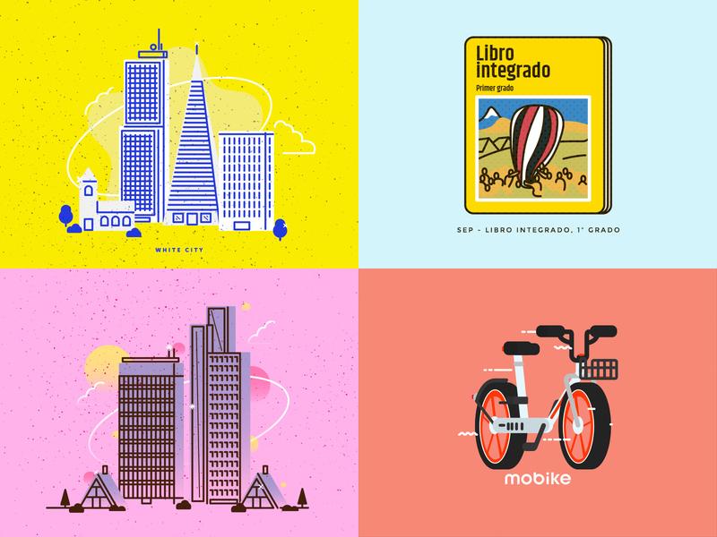 2018 geometric top4shots ui mexico illustration vector