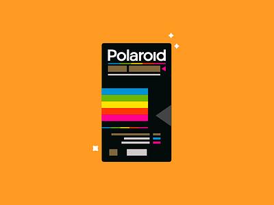 Polaroid design 90s polaroid movie vhs geometric illustration vector