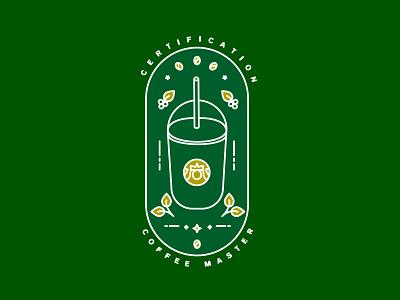 Coffee Master ui mexico certification badge coffee food illustration vector