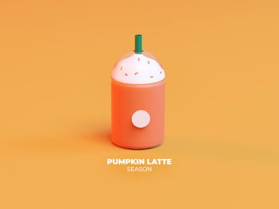 Pumpkin 3D Latte