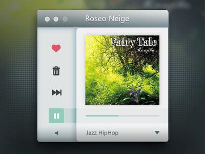 Radio Player radio player ui douban fm mac gui liushui china apple song music green album