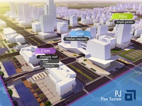 "3d visualization designed for ""PJ"" city plan system."