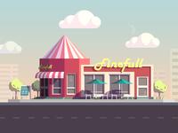 snack bar illustration completed