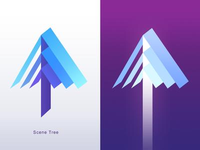 scene tree icon design icon 3d tree
