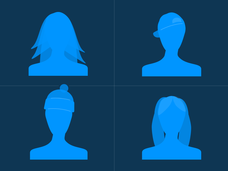 Getting Personal people silhouettes head and shoulders girl dude gosquared