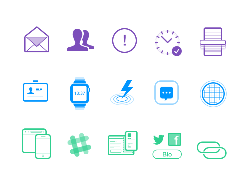 New Site. New Icons. gosquared customers analytics marketing site icons