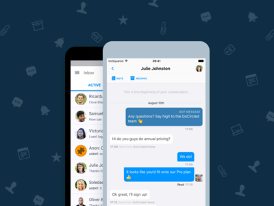 GoSquared Inbox App Page