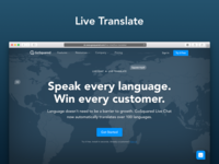 Live Translate landing page