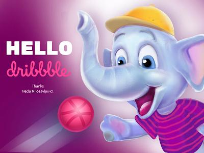 Hello Dribbble! vector 2d character animation app caracter illustration design 2d design 2d art