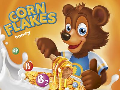 Honey bear for corn flakes packing