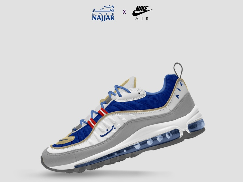 quality design 0c937 48cb2 Nike Air Max 98 x Cafe Najjar by Guts and Glory on Dribbble