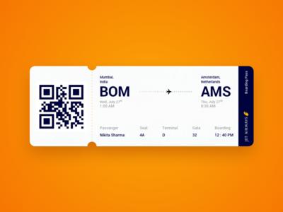 Boarding pass concept sketch app boarding pass airways traveling love mumbai amsterdam ux ui travel ticket plane