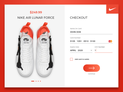 Checkout interface form flat nike ui ux user experience shopping app prototype product page interaction checkout