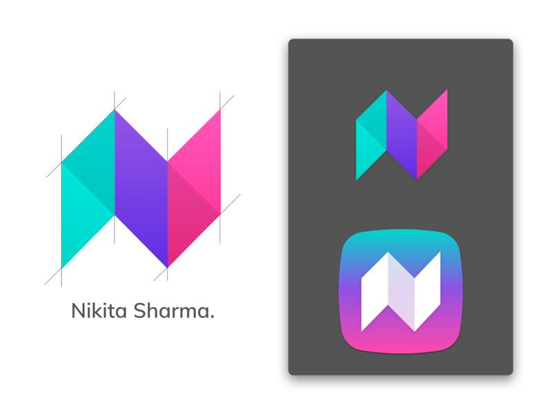 Self Logo simple self branding clean self portfolio colors logo nikita