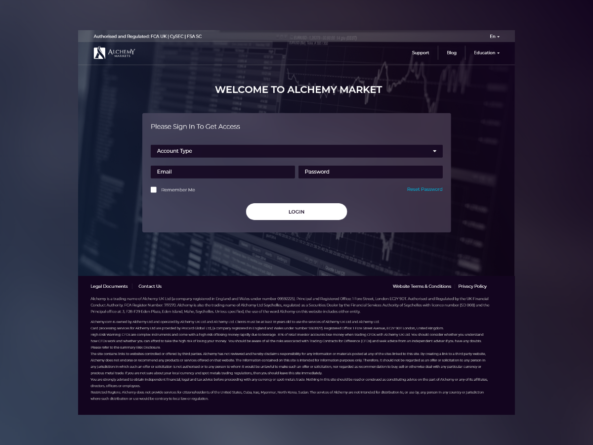 Alchemy - Login stock broker site web trading login design web design design corporate designs