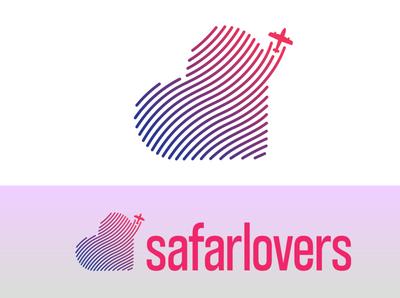 SafarLovers Logo love heart lover safar travelling logodesign logo travel