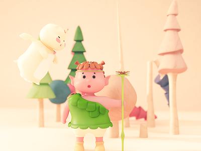 UU&JOJO illustration c4d cute design 3d