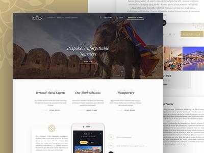 Luxury Travel Portal gold gallery landing app clean hotel agency booking portal travel luxury